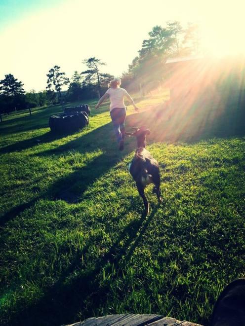 runs with goats